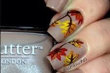 outono nude nail