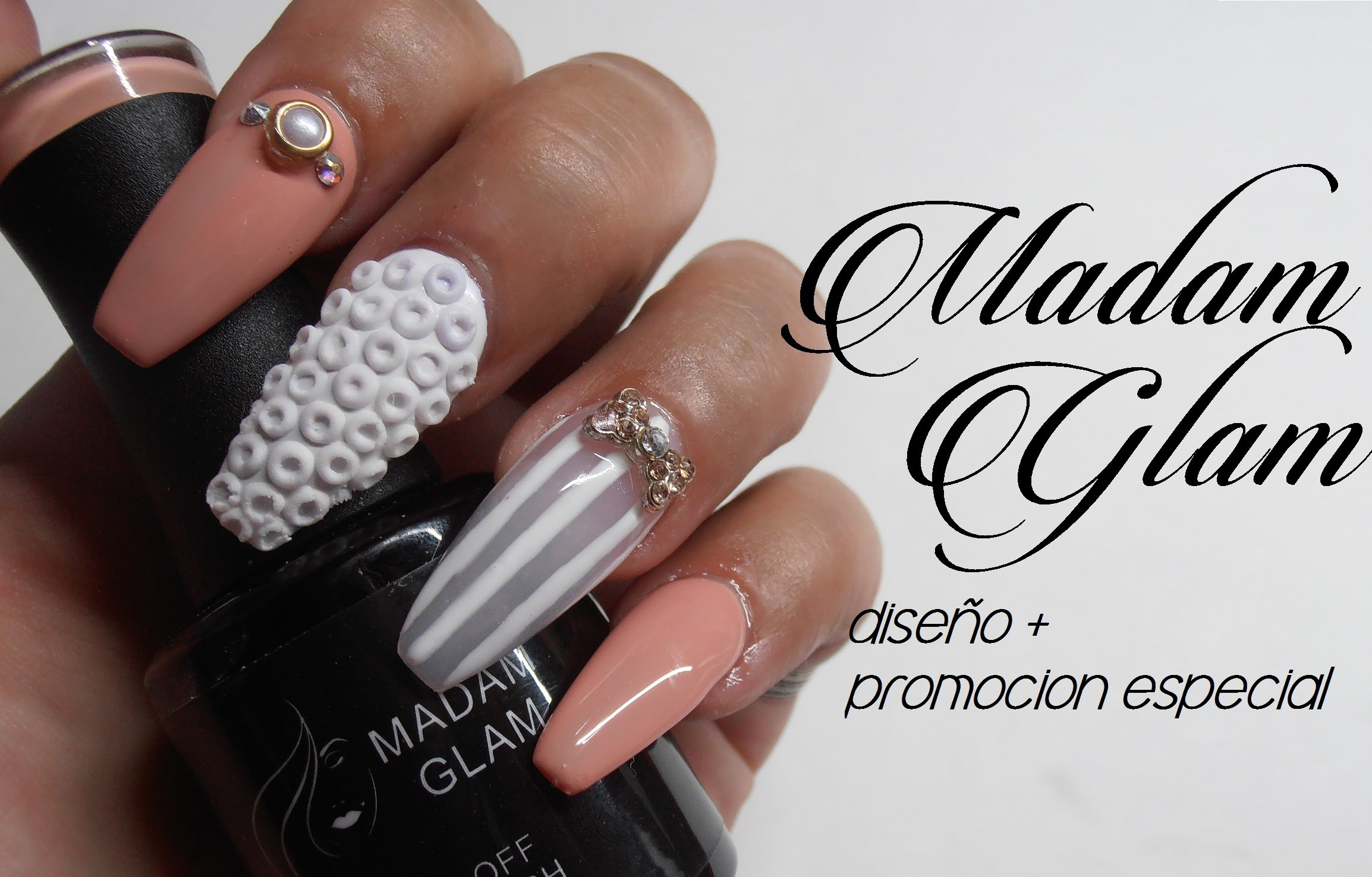 Madam Glam esmalte en gel + diseño (GEL POLISH)